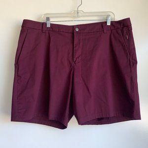 """Lululemon 7.5"""" Burgundy Commission Shorts Size 40"""